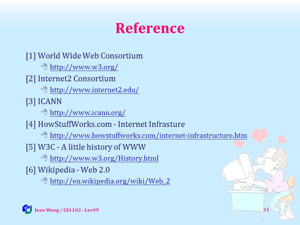 Reference [1] World Wide Web Consortium [2] Internet2 Consortium